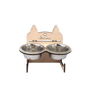 Кормушка для котов Cat Joy c регулировкой высоты
