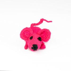 Мышка игрушка для кота вязаная