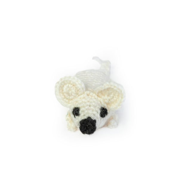 мышь игрушка белая