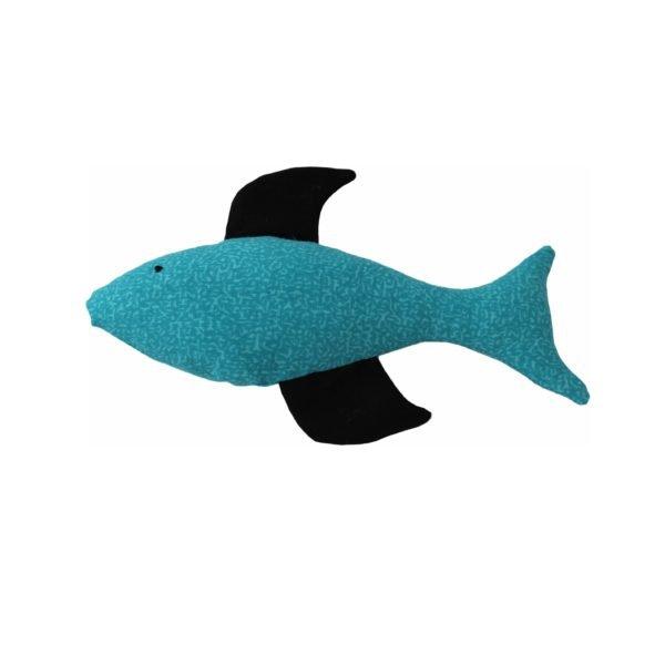 игрушка для кошки рыба голубая с черным