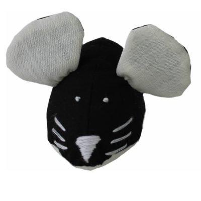 мышка для кота игрушка черно-белая