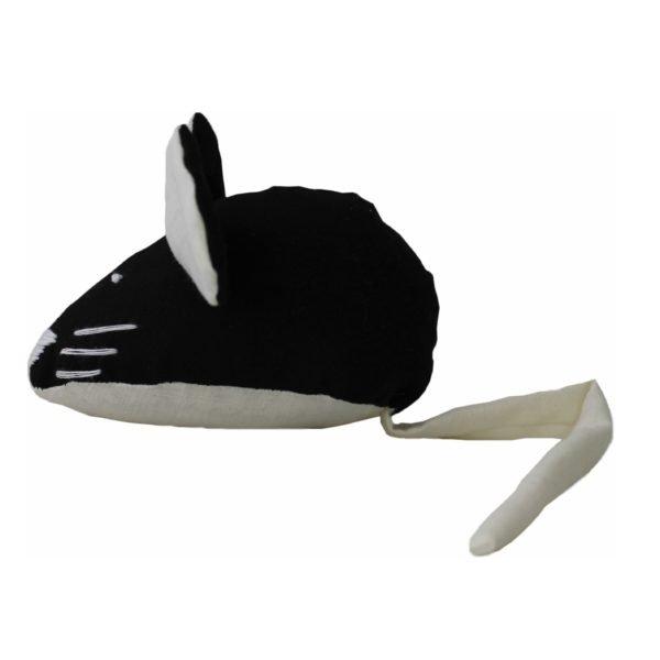 мягкая игрушка для кота мышка черная