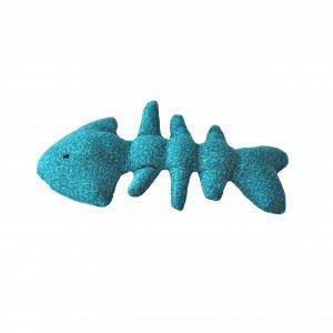 Рыбка для кота игрушка скелет рыбы голубой шитая ручная работа