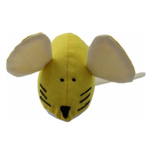 мягкая игрушка для кошки мышь желтая